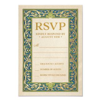 Cartão O casamento RSVP carda a coleção iluminada | do