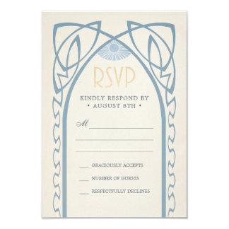 Cartão O casamento RSVP carda o vintage Nouveau de |