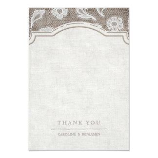 Cartão O casamento rústico do país do laço e da