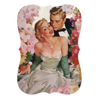 Cartão O casamento vintage floresce o chá de panela