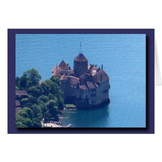 Cartão O castelo de Chillon de cima de!