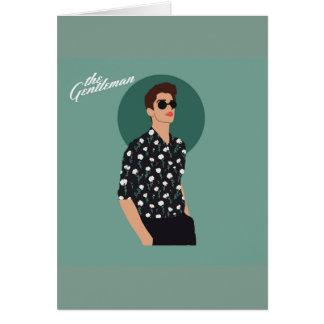 Cartão O cavalheiro - flor