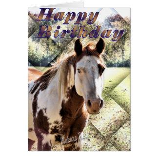 Cartão O cavalo Bday de Appie Cartão-personaliza