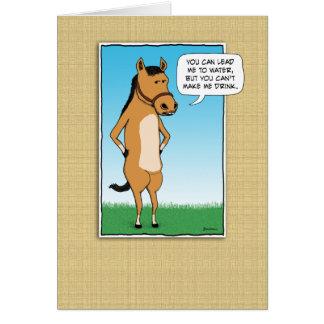 Cartão O cavalo engraçado quer Margaritas