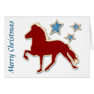 Cartão O cavalo islandês Stars o Feliz Natal