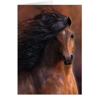 Cartão O cavalo Notecard de Morgan
