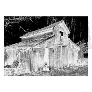 Cartão O celeiro de Madeline em preto & no branco