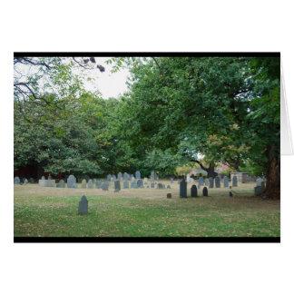 Cartão O cemitério de enterramento do ponto