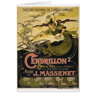 Cartão O Cendrillon de Jules Massenet do poster de Emile
