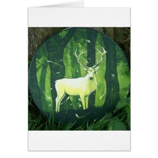 Cartão O cervo branco