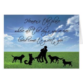 Cartão O céu é o lugar onde todos os cães…