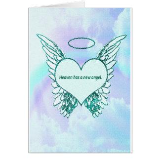 Cartão O céu tem um anjo novo
