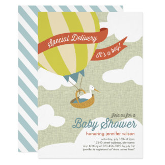 Cartão O chá de fraldas da entrega especial convida - o