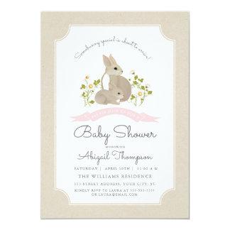 Cartão O chá de fraldas do coelho convida
