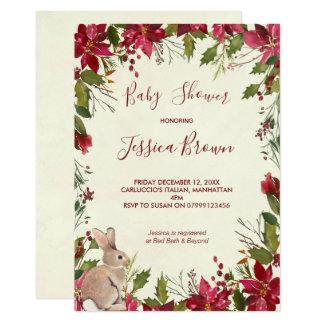 Cartão O chá de fraldas do feriado de inverno do Natal