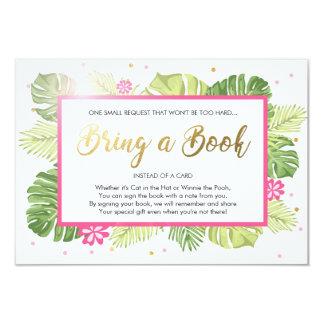 Cartão O chá de fraldas traz a um livro a palma