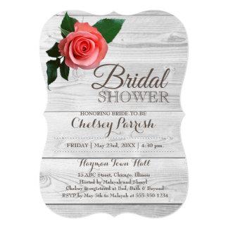 Cartão O chá de panela cor-de-rosa rústico Noiva-À-Está