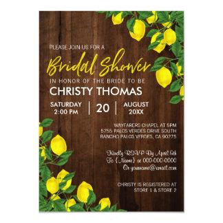 Cartão O chá de panela de madeira do verão   do limão