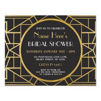 Cartão o chá de panela do partido de Gatsby do art deco