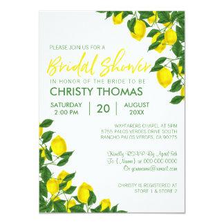 Cartão O chá de panela do verão   do limão convida