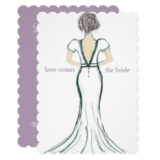 Cartão O chá de panela do vestido de casamento convida