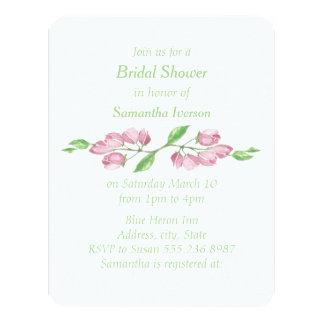 Cartão O chá de panela floral da flor de cerejeira