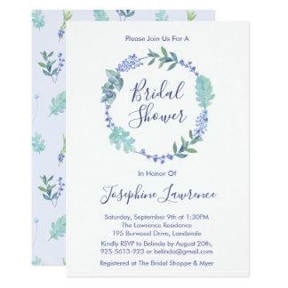 Cartão O chá de panela floral da grinalda do primavera