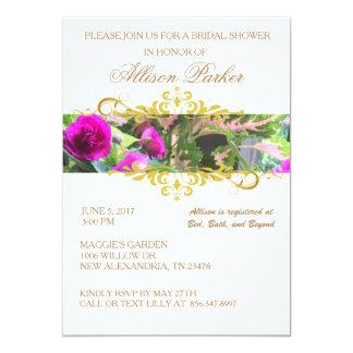 Cartão O chá de panela floral do jardim convida