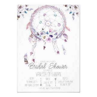 Cartão O chá de panela romântico de Dreamcatcher Boho