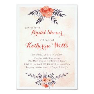 Cartão O chá floral da aguarela convida