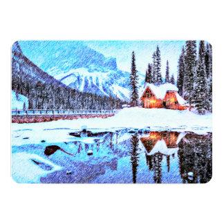 Cartão O chalé artística do lago convida