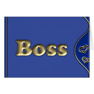 Cartão O chefe