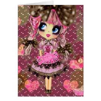 Cartão O chocolate borbulha Kawaii Lolita doce PinkyP
