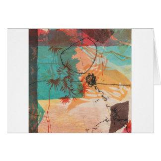 Cartão O círculo abstrato dá forma a Printmaking