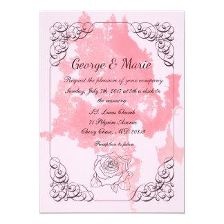 Cartão O clássico agradável convida o casamento das FO