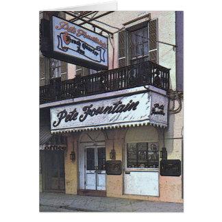 Cartão O clube da fonte de Pete, Nova Orleães