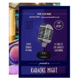 Cartão O clube/partido incorporado do karaoke adiciona a