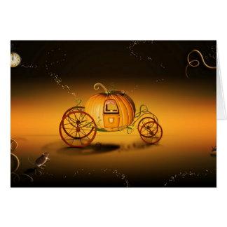 Cartão O coche de Halloween -