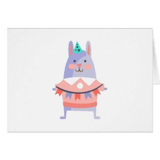 Cartão O coelho com partido atribui Funky estilizado