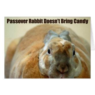 Cartão O coelho do Passover não passa sobre