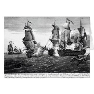 Cartão O combate memorável entre o capitão Pearson