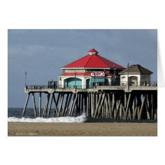 Cartão O comensal do rubi - cais de Huntington Beach