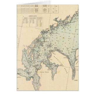 Cartão O Condado de Fairfield Connecticut, Long Island NY