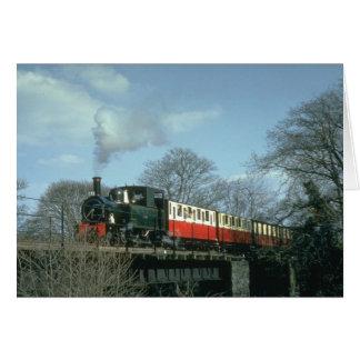 Cartão O conde da estrada de ferro de Welshpool & de