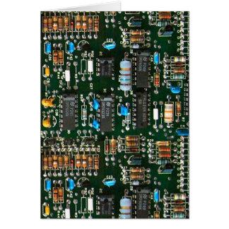 Cartão O conselho de circuito impresso dos eletrônicos do