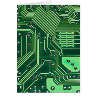 Cartão O conselho de circuito verde - impressão