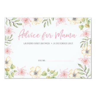Cartão O conselho do chá de fraldas carda as flores
