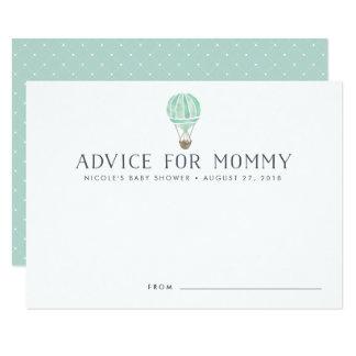 Cartão O conselho do chá de fraldas do balão de ar quente
