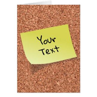 Cartão O conselho ENGRAÇADO da cortiça com textos