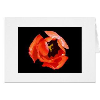 """Cartão """"O coração da tulipa """""""